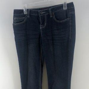 Bongo Womens Boot Cut Jeans Sz 7 Juniors Blue